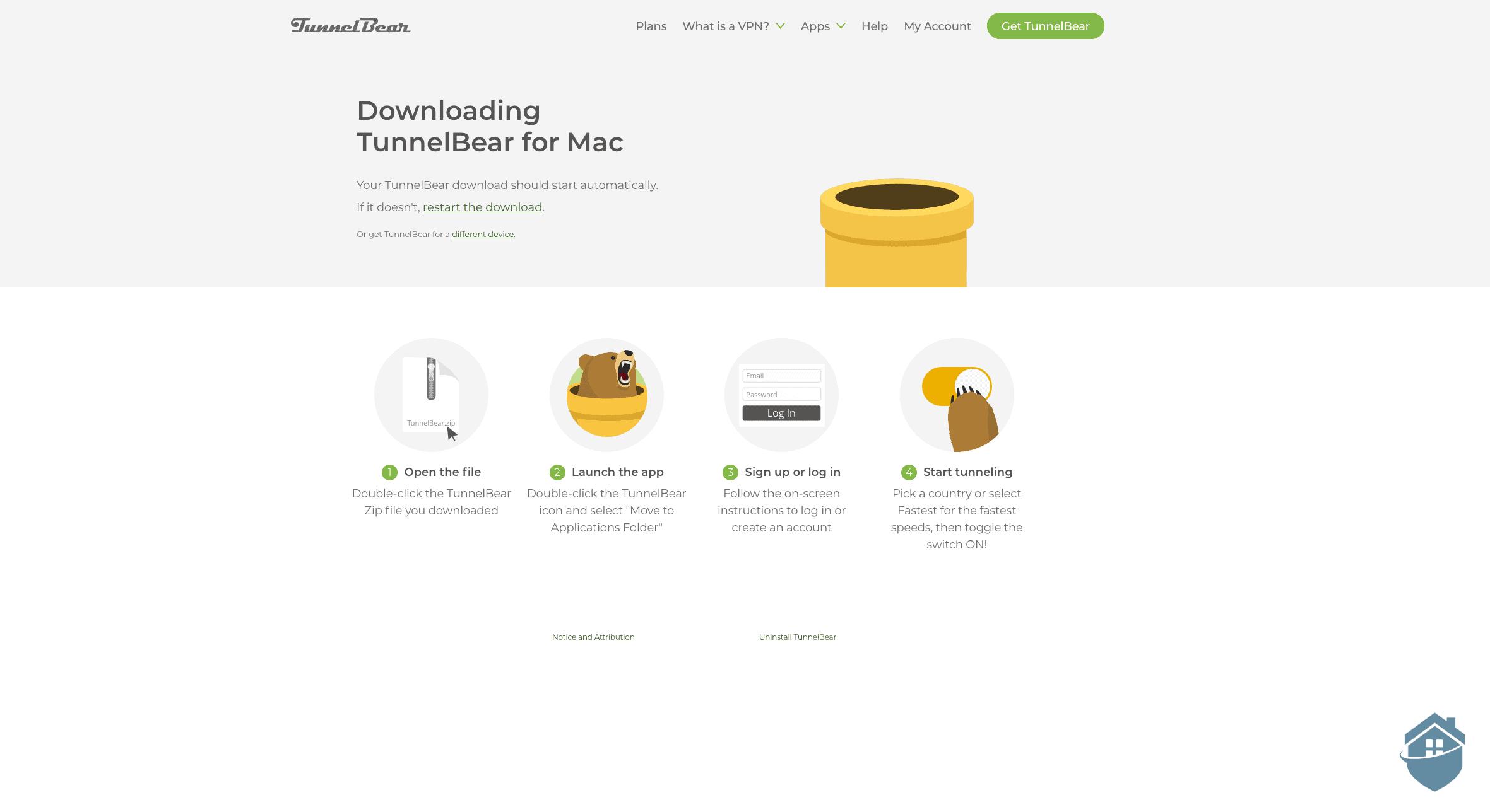 Downloading TunnelBear