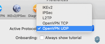 IPVanish VPN Protocol Options