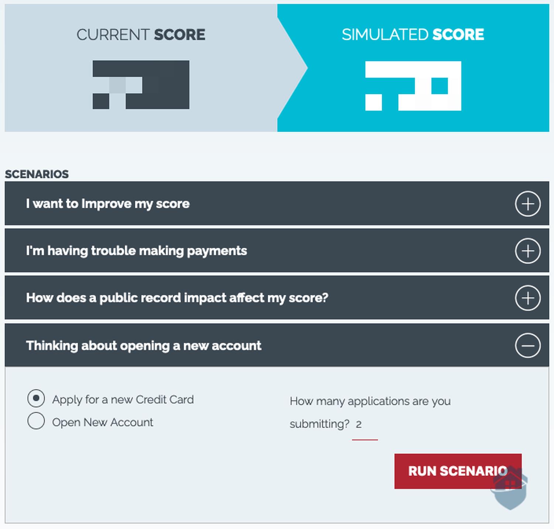 IdentityIQ Credit Simulator