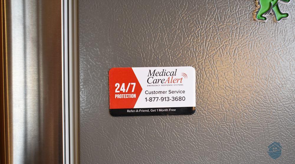 Medical Care Alert Customer Service Magnet