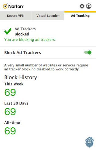 NortonVPN Ad Tracker