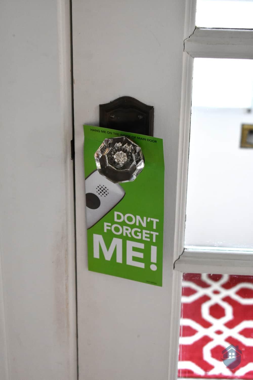 One Call Alert Door Hang Reminder