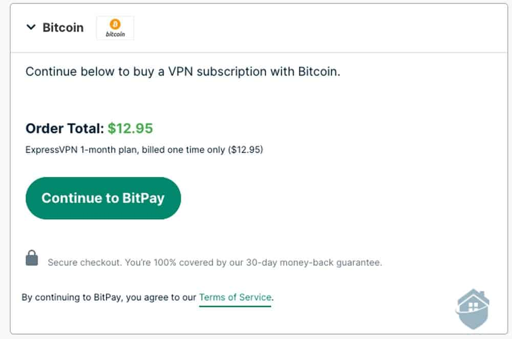 Purchasing ExpressVPN with Bitcoin
