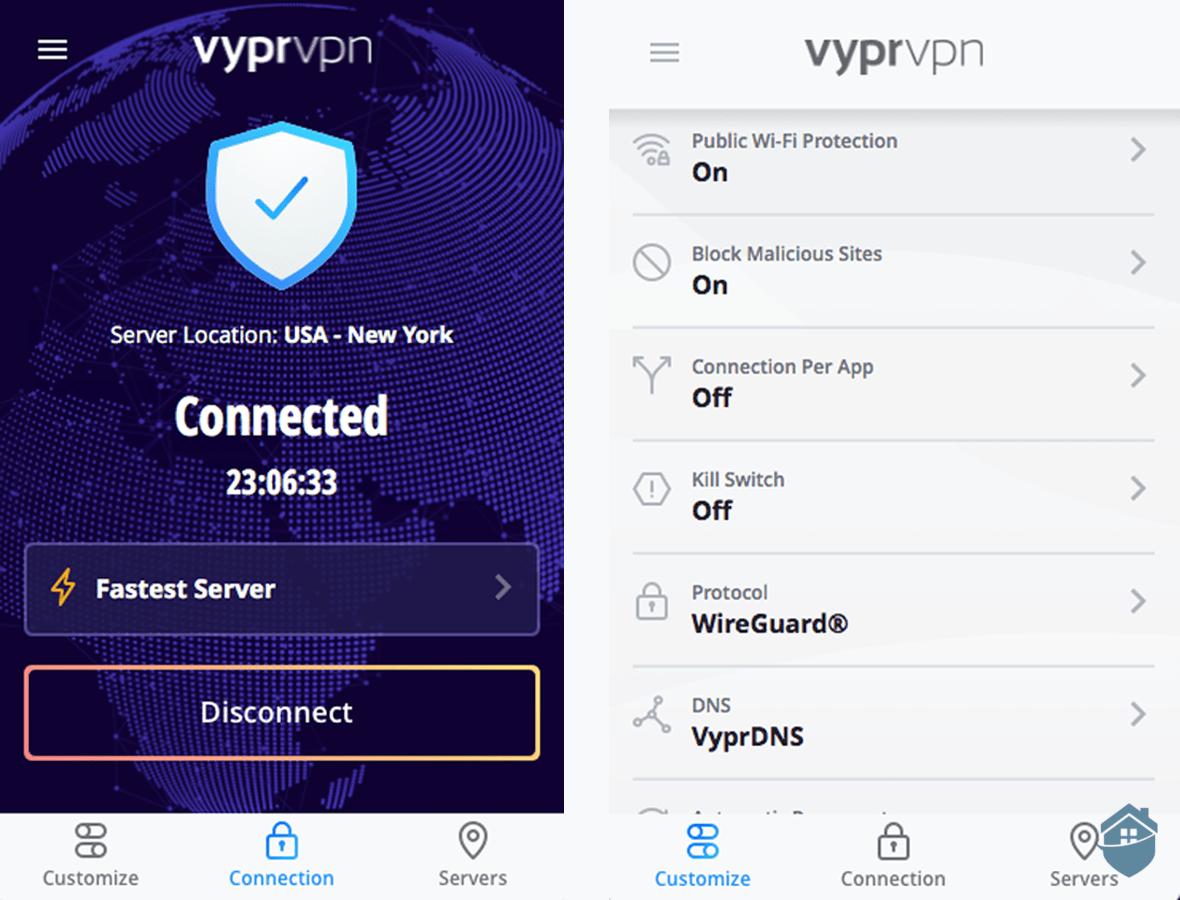 VyprVPN Desktop both views