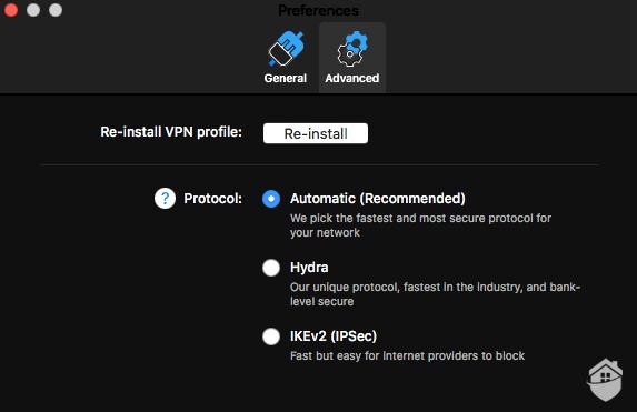 Hotspot Shield's advanced features (Mac)