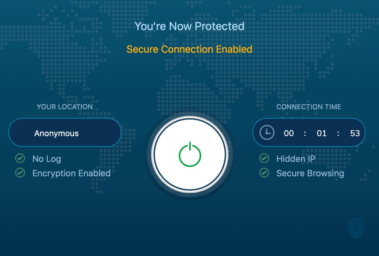 Ivacy VPN Dashboard