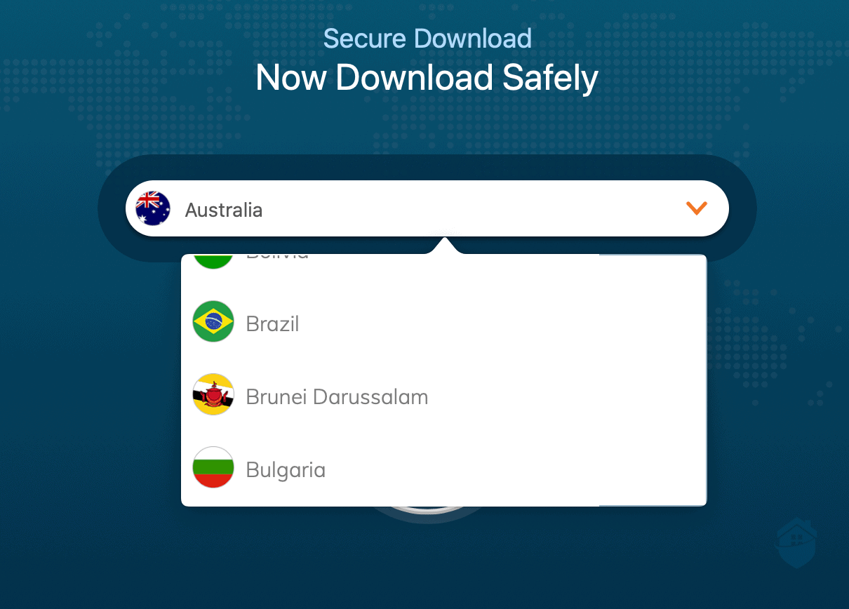 Ivacy's Secure Download Feature