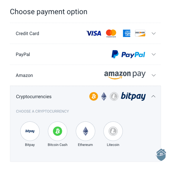 Private Internet Access cryptocurrency payment options