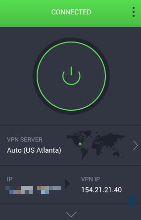 Private Internet Access dashboard