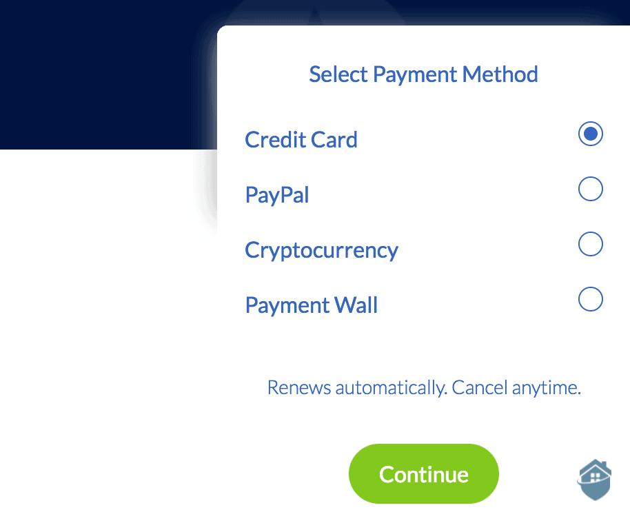 Windscribe VPN gives you plenty of payment options.