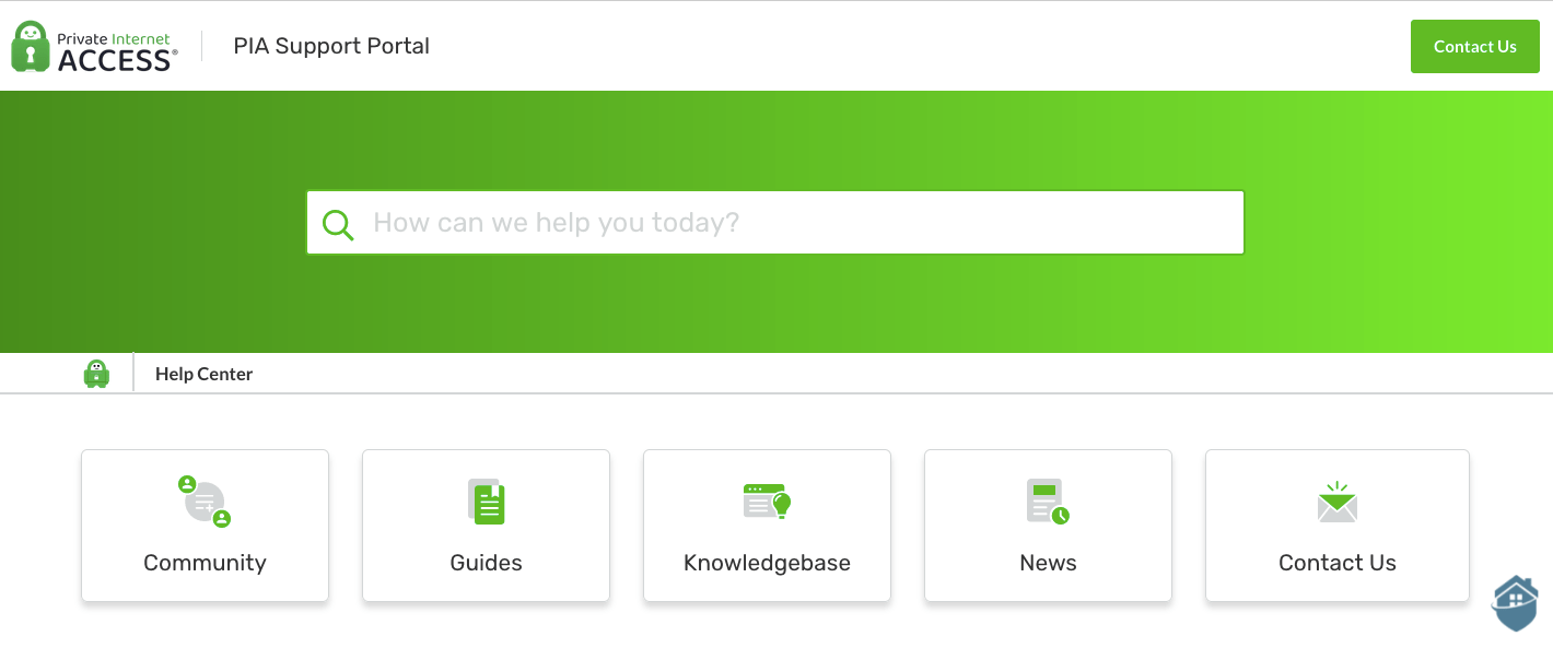 The Private Internet Access Support Portal goes an extra step with a community forum